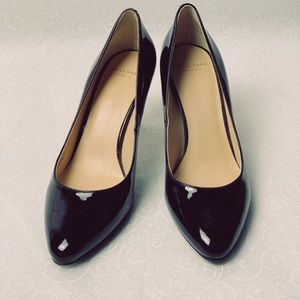 COLE HAAN LENA MID PUMP II  patent leather